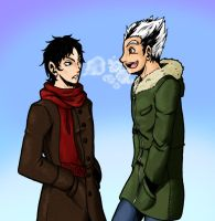 HQ - Winter Time Bokuto and Akaashi by SailorAnime