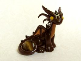 Tiger Eye Brown Dragon by DragonsAndBeasties