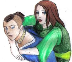 Sokka and Suki by Fires-from-Ashes