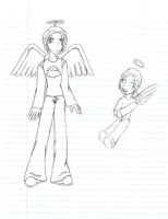 Old picture - Angel character by Doodlebotbop