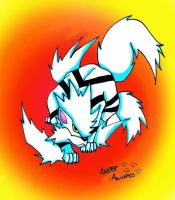 King the White Arcanine by PinkScooby54