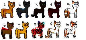 Kitty Adoptables by BlairTheCatt