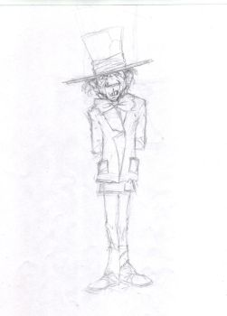 Madness in Alice / MadHatter Sketch 2 by Madness-of-Hamlet