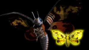 Mothra .obj for MMD conversion by kaxblastard