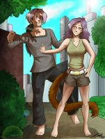Comm: Barefoot in the Park by GaelicKitsune
