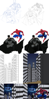 Batman and Spiderman [Step by Step] by JeyraBlue