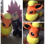 Axel and Flareon by PonyNightmare