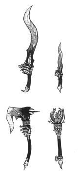 Daedric Weapon Redesigns by Nny2