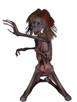 Crazy Ugly Zombie png by mysticmorning