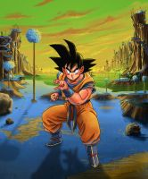 Goku on Namek by Ran-D