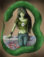 KP: Shego and Snake by ShadowOfSilent
