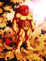 Caineghis +Golden Speedo+ by leomon32