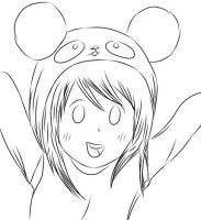 .: Panda Girl - Free Line-art / Lineart :. by Blue-Star10