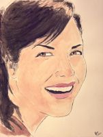 Selma Blair IV - Watercolor by interlude-four