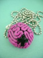 Brain Damage Necklace by monsterkookies