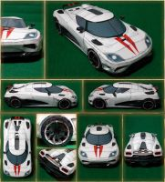 Koenigsegg Agera R Papercraft by Mironius