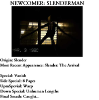 Newcomer: Slenderman by GothicStatic