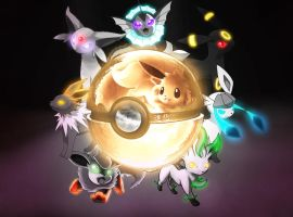 The Eeveelution Pokeball by wazzy88