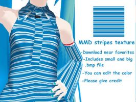 MMD Blue stripes texture DL by Utauvocaloidfan