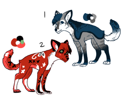 Wolf Adopts.CLOSED. by HappyDesigns