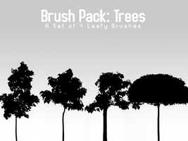 Trees - 4 Brushes by PerpetualStudios