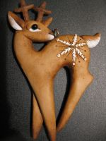 Deer Ornament by Ban-Sidhe