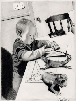 The young artist by Bobby-castaldi-art