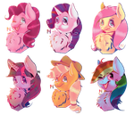 .: The mane 6 :. by AdaHams