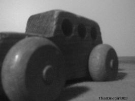 Black and white, Wooden Car. by ThatOneGirl303