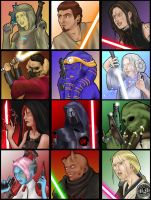 SWTOR Character Portraits by Seithe