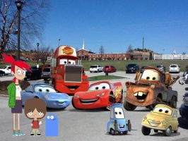 Meeting Lighting McQueen And His Friends! :D by richardchibbard