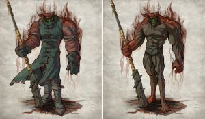 Fable 2 extreme morph concept by OmenD4