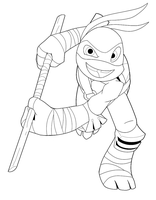 Lineart01 Donatello by Inked-Alpha