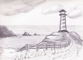 Lighthouse - Pen by SamusAran28