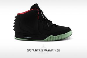 Nike Air Yeezy 2 NRG 'Solar Red' by BBoyKai91