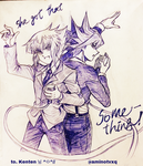 Judai and Yusei by Ycajal