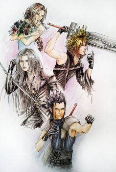 FF VII/Crisis Core by Murdersushi