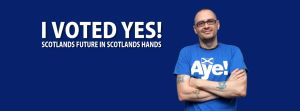 I VOTED YES FOR SCOTLANDS FUTURE by stphq