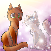 Remake: Spottedleaf and Firestar by Kitzophrenic