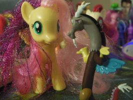 Fluttershy and Discord by ptitemouette