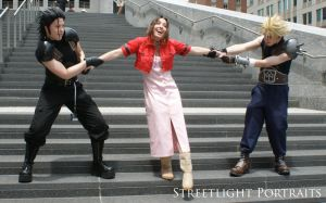 Fighting over Aerith by MrManson86