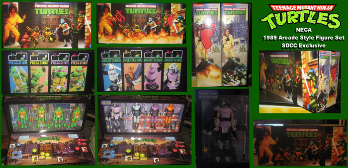 NECA TMNT Arcade Figure Set Collection by ProfessorMegaman