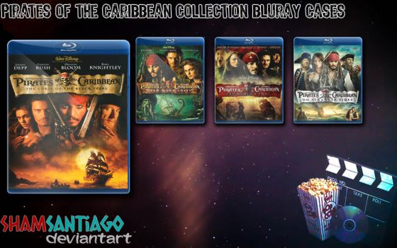 Pirates of the Caribbean Bluray Cases by ShamSantiago