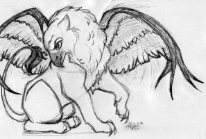 A Griffin by Artistic-Fat-Hobbit