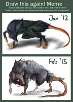 Draw this again Meme: Rat by Sophalone