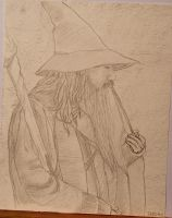 Gandalf, the Gray, scene from 'The Hobbit' by Devisate