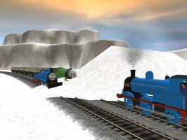 Stuck in the snow again. by WaluigiTails3801