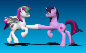 Brohoof Twilight Sparkle and Blossom Forth by Harikon