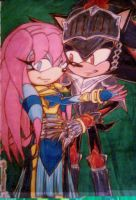 Forbidden Couple_Coloured by Sky-The-Echidna