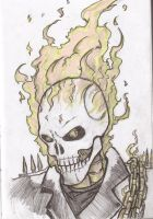 Ghost rider head by Flam-On